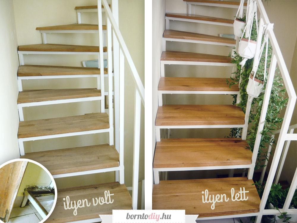 DIY Tölgyfa lépcső felújítás - lépcsőfelújítás házilag, avagy lakkozzunk lépcsőt!