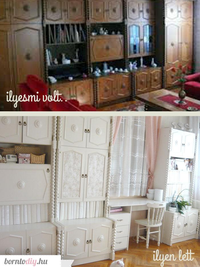 (Ál) Koloniál szekrénysor festése egyszerűen házilag ( koloniál bútor festés )