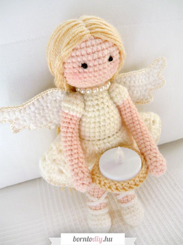 ( Karácsonyi ) amigurumi angyalka baba - ingyenes amigurumi mintával !