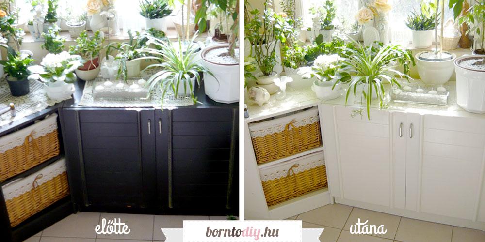 Laminált / fóliázott bútorok átfestése egyszerűen, olcsón, házilag - bútorfestés lépésről-lépésre