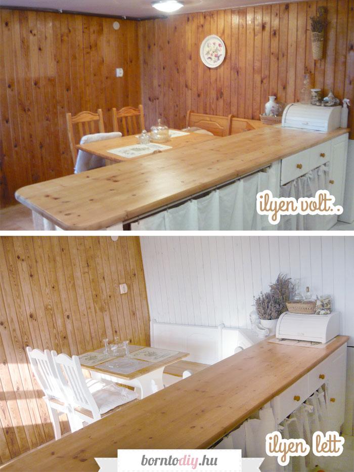 A nagy lambéria átalakítás ( lambéria festése vintage hangulatban ) -  Alacsony költségvetésű DIY konyhafelújítás 1.rész