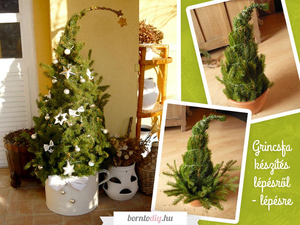 Grincsfa házilag fenyő ágakból egyszerűen ( Grincsfa készítés lépésről - lépésre )