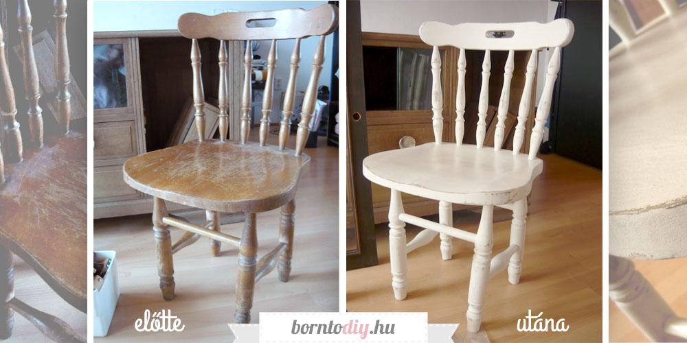 Koptatás lépésről-lépésre avagy egy régi szék átalakulása ( visszacsiszolásos antikolás házilag )